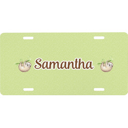 Sloth Front License Plate (Personalized)