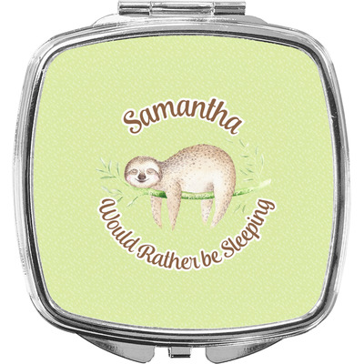 Sloth Compact Makeup Mirror (Personalized)