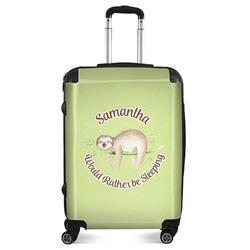 "Sloth Suitcase - 24""Medium - Checked (Personalized)"