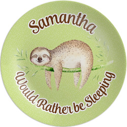 Sloth Melamine Plate (Personalized)
