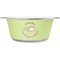 Sloth Stainless Steel Pet Bowl (Personalized)