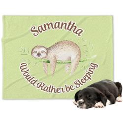 Sloth Minky Dog Blanket - Large  (Personalized)