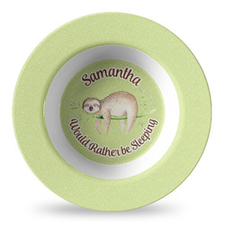 Sloth Plastic Bowl - Microwave Safe - Composite Polymer (Personalized)