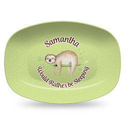 Sloth Plastic Platter - Microwave & Oven Safe Composite Polymer (Personalized)