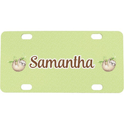 Sloth Mini / Bicycle License Plate (Personalized)