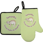 Sloth Oven Mitt & Pot Holder (Personalized)