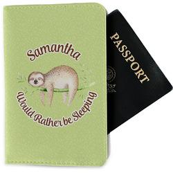 Sloth Passport Holder - Fabric (Personalized)