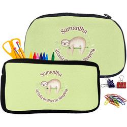 Sloth Pencil / School Supplies Bag (Personalized)