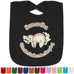 Sloth Bib - Select Color (Personalized)