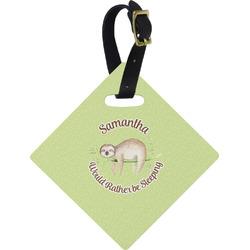 Sloth Diamond Luggage Tag (Personalized)