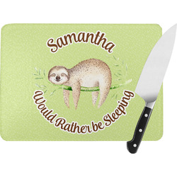 Sloth Rectangular Glass Cutting Board (Personalized)