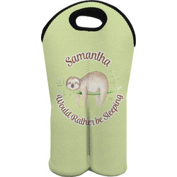 Sloth Wine Tote Bag (2 Bottles) (Personalized)