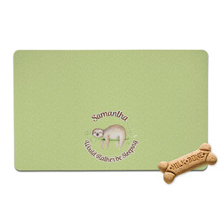 Sloth Pet Bowl Mat (Personalized)