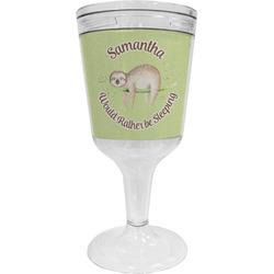 Sloth Wine Tumbler - 11 oz Plastic (Personalized)