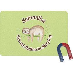 Sloth Rectangular Fridge Magnet (Personalized)