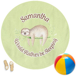 Sloth Round Beach Towel (Personalized)