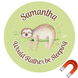 Sloth Round Car Magnet (Personalized)
