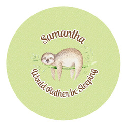 Sloth Round Decal (Personalized)