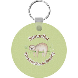 Sloth Round Keychain (Personalized)