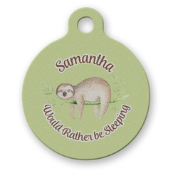 Sloth Round Pet Tag (Personalized)