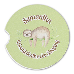 Sloth Sandstone Car Coaster - Single (Personalized)