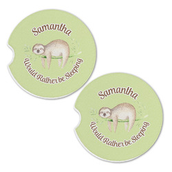 Sloth Sandstone Car Coasters - Set of 2 (Personalized)