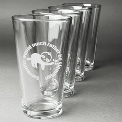 Sloth Beer Glasses (Set of 4) (Personalized)
