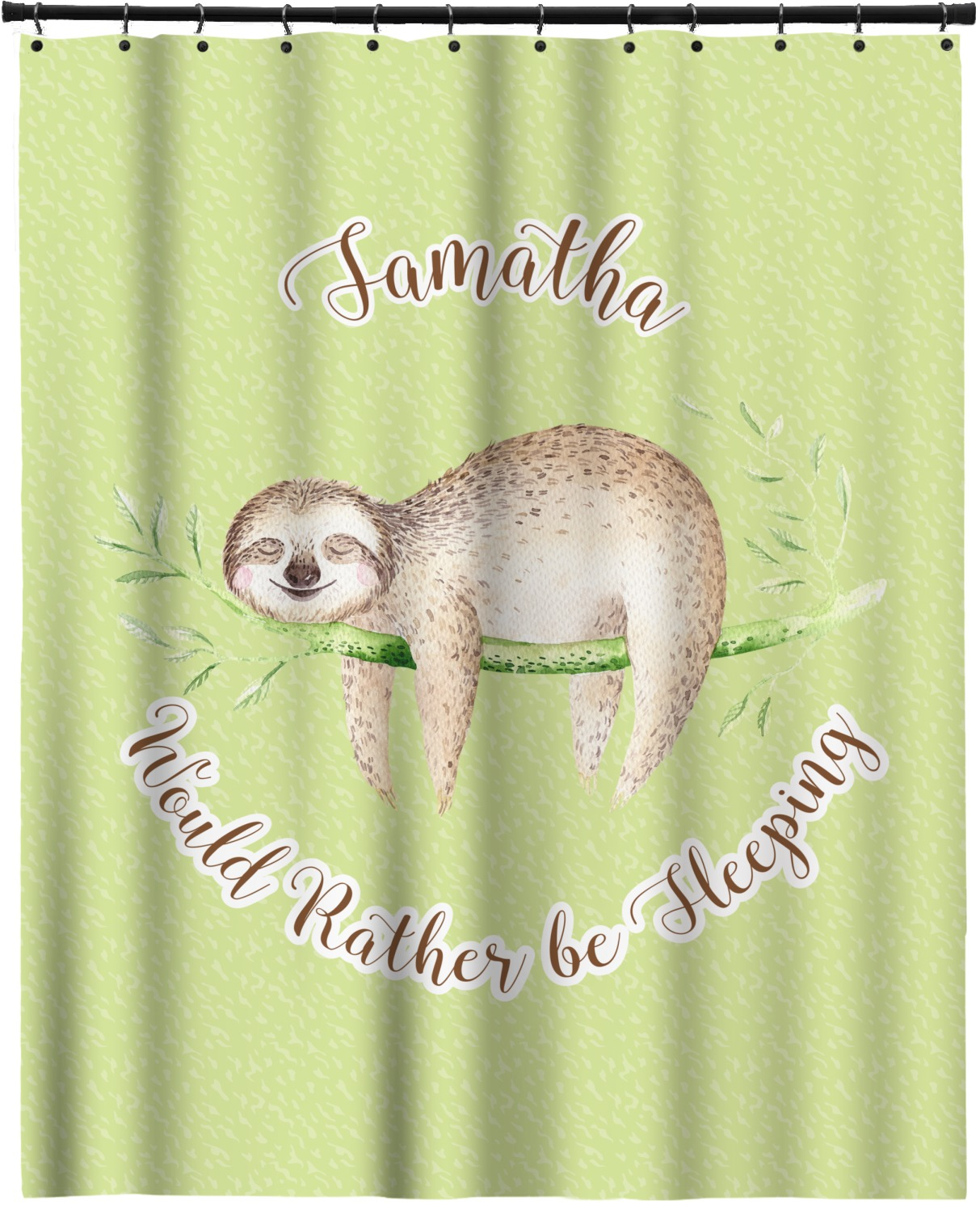 Sloth extra long shower curtain 70 x90 personalized for Sloth kong shower curtain