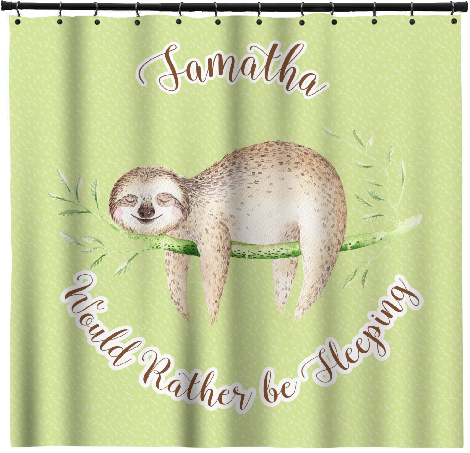 Sloth shower curtain personalized youcustomizeit for Sloth kong shower curtain