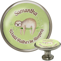 Sloth Cabinet Knob (Silver) (Personalized)