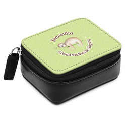 Sloth Small Leatherette Travel Pill Case (Personalized)