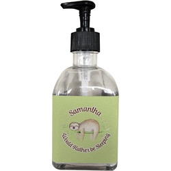 Sloth Soap/Lotion Dispenser (Glass) (Personalized)