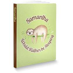 """Sloth Softbound Notebook - 7.25"""" x 10"""" (Personalized)"""