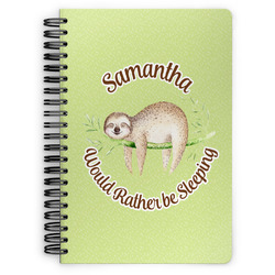 Sloth Spiral Bound Notebook - 7x10 (Personalized)