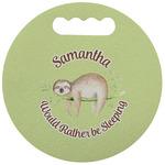 Sloth Stadium Cushion (Round) (Personalized)