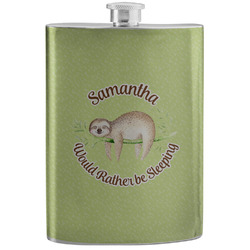 Sloth Stainless Steel Flask (Personalized)