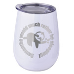 Sloth Stemless Wine Tumbler - 5 Color Choices - Stainless Steel  (Personalized)