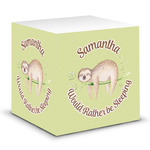 Sloth Sticky Note Cube (Personalized)