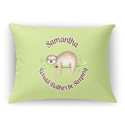 Sloth Rectangular Throw Pillow Case (Personalized)