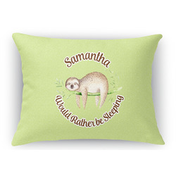Sloth Rectangular Throw Pillow Case (Personalized)