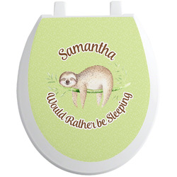 Sloth Toilet Seat Decal (Personalized)