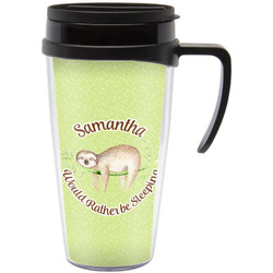 Sloth Travel Mug with Handle (Personalized)
