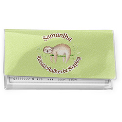 Sloth Vinyl Checkbook Cover (Personalized)