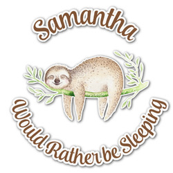 Sloth Graphic Decal - Medium (Personalized)