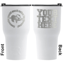 Sloth RTIC Tumbler - White - Engraved Front & Back (Personalized)