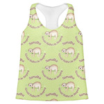 Sloth Womens Racerback Tank Top (Personalized)