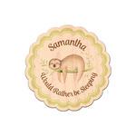 Sloth Genuine Wood Sticker (Personalized)