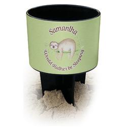 Sloth Black Beach Spiker Drink Holder (Personalized)