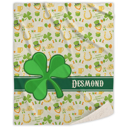 St. Patrick's Day Sherpa Throw Blanket (Personalized)
