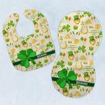 St. Patrick's Day Baby Bib & Burp Set w/ Name or Text